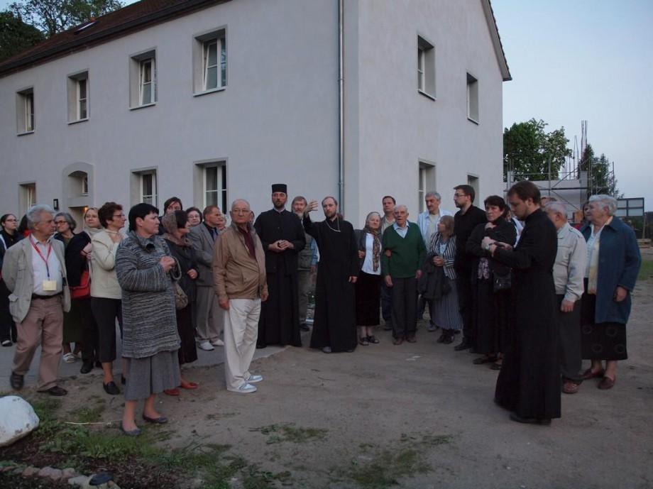 Besuch Orthodoxe Pilgern aus Polen in St. Georg Kloster zu Götschendorf (Uckermark)